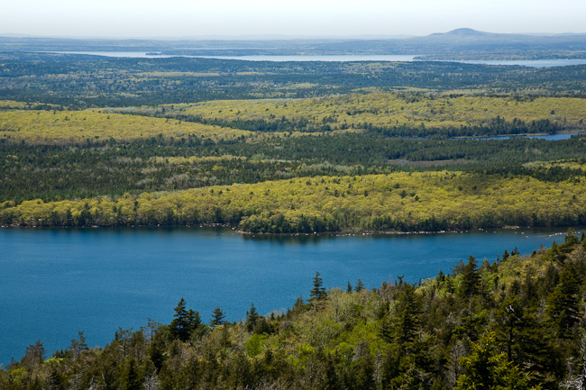 View west over Eagle Lake from Cadillac Mountain