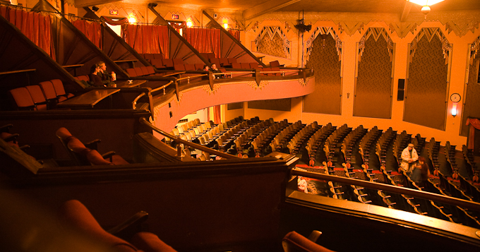 view of balcony box seats and theater seats