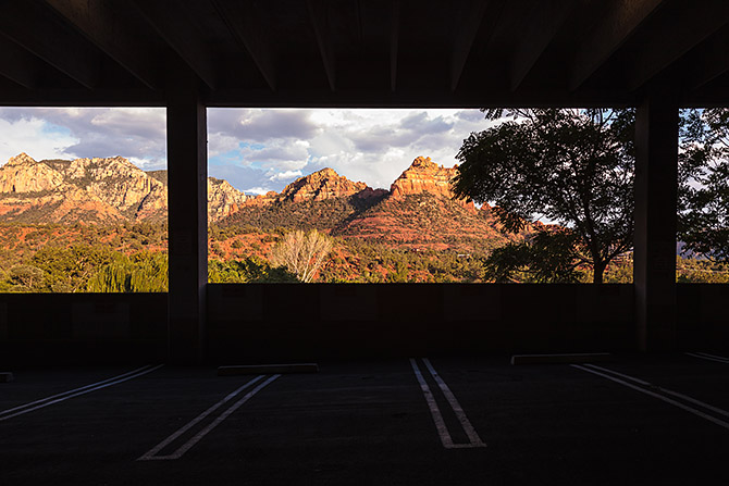 parking lot in Sedona